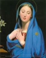 Virgin of the Adoption painting reproduction, Jean Auguste Dominique Ingres