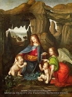 Virgin of the Rocks painting reproduction, Leonardo Da Vinci