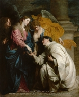 Vision of the Blessed Herman Joseph painting reproduction, Sir Anthony Van Dyck