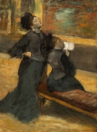 Visit to a Museum painting reproduction, Edgar Degas