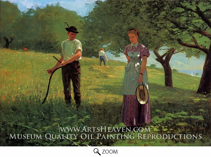 Painting Reproduction of Waiting for an Answer, Winslow Homer
