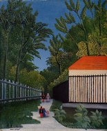 Walking in the Parc Montsouris painting reproduction, Henri Rousseau