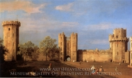 Warwick Castle: the East Front from the Courtyard painting reproduction, Canaletto