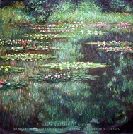 Water Lilies 1904 painting reproduction, Claude Monet