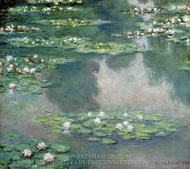Water Lilies 1905 painting reproduction, Claude Monet