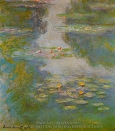 Water Lilies painting reproduction, Claude Monet