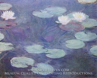 Water Lilies, Pink by Claude Monet