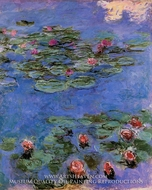 Water Lilies, Red by Claude Monet