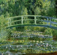 Water-Lily Pond painting reproduction, Claude Monet