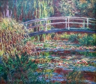 Water-Lily Pond, Symphony in Rose painting reproduction, Claude Monet