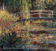 Water-Lily Pond, Symphony in Rose by Claude Monet