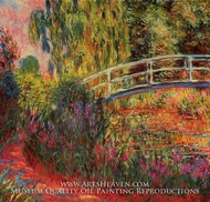 Water-Lily Pond, Water Irises by Claude Monet