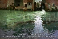 Water Mill painting reproduction, Frits Thaulow