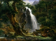 Waterfall at Mont-Dore painting reproduction, Achille-Etna Michallon