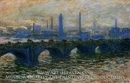 Waterloo Bridge, Misty Morning by Claude Monet