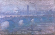 Waterloo Bridge, Morning Fog painting reproduction, Claude Monet