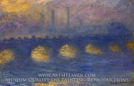 Waterloo Bridge, Overcast Weather by Claude Monet