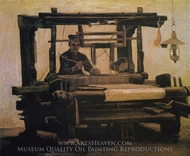 Weaver at the Loom painting reproduction, Vincent Van Gogh