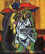 Weeping Woman by Pablo Picasso (inspired by)