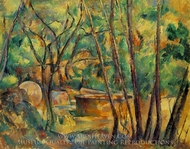 Well, Millstone and Cistern Under Trees painting reproduction, Paul Cezanne