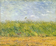 Wheatfield with a Lark painting reproduction, Vincent Van Gogh