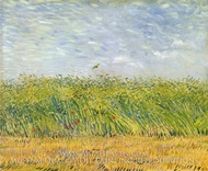 Wheatfield with a Lark by Vincent Van Gogh