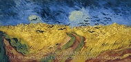 Wheatfield with Crows painting reproduction, Vincent Van Gogh