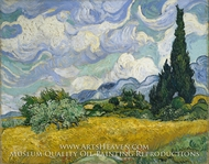 Wheatfield with Cypresses at the Haute Galline by Vincent Van Gogh