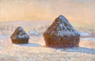 Wheatstacks, Snow Effect, Morning (Meules, Effet de Neige, Le Matin) by Claude Monet