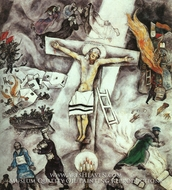 White Crucifixion by Marc Chagall (inspired by)