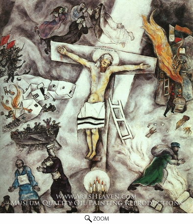 Painting Reproduction of White Crucifixion, Marc Chagall (inspired by)