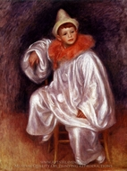 White Pierrot (Jean Renoir) painting reproduction, Pierre-Auguste Renoir