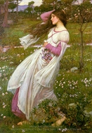 Windflowers painting reproduction, John William Waterhouse