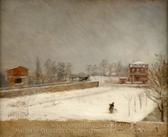 Winter Landscape painting reproduction, Giuseppe De Nittis