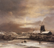 Winter Landscape by Jacob Van Ruisdael