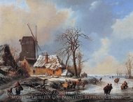 Winter Landscape painting reproduction, Albert Moerman