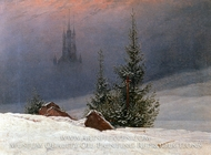 Winter Landscape with Church by Caspar David Friedrich