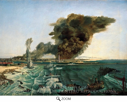 Painting Reproduction of Withdrawal From Dunkirk, June 1940, Richard Ernst Eurich
