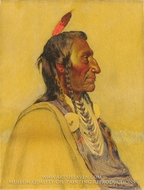 Wolf Ear, Sioux by Joseph H. Sharp