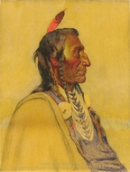 Wolf Ear, Sioux painting reproduction, Joseph H. Sharp