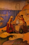 Woman at the Well painting reproduction, Paul Signac