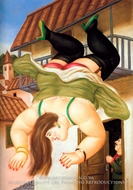 Woman Falling from a Balcony painting reproduction, Fernando Botero