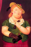 Woman in a Hat painting reproduction, Fernando Botero