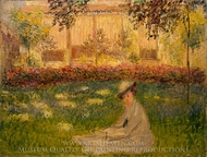Woman in Garden painting reproduction, Claude Monet