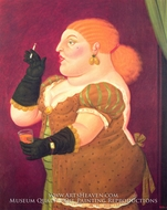 Woman in Profile by Fernando Botero