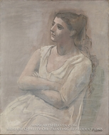 Woman in White by Pablo Picasso (inspired by)