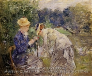 Woman Picking Flowers by Berthe Morisot