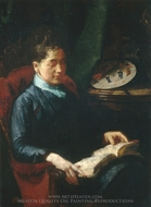 Woman Reading painting reproduction, Susan Macdowell Eakins