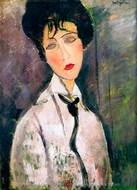 Woman with a Black Cravat painting reproduction, Amedeo Modigliani