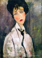 Woman with a Black Cravat by Amedeo Modigliani